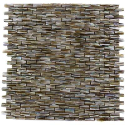 Baroque Pearl 3D Brick Pattern 12 in. x 12 in. x
