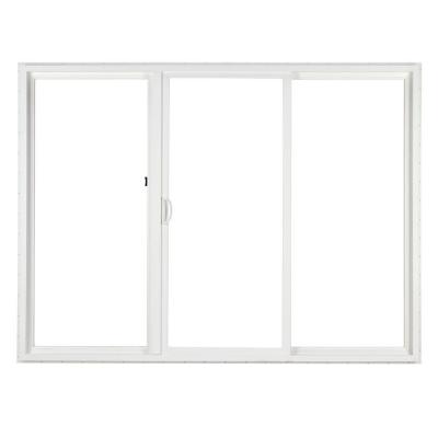 Simonton 120 in x 80 in 3 panel contemporary vinyl for Home hardware patio doors