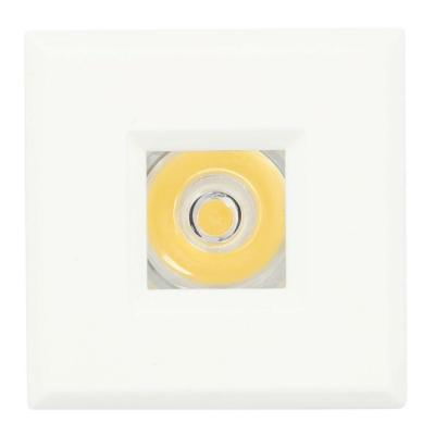 LED Bright White Mini Recessed Puck Light with Square White Polycarbonate