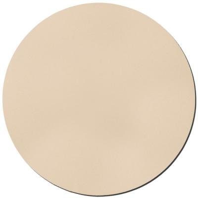 24 in. Beige Circle Acoustic Sound Absorbing Wall Panels (2-Pack)