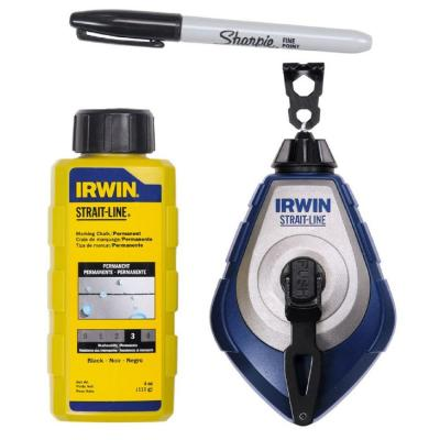 Irwin Speedline Pro 100 ft. Chalk and Reel Combo with Sharpie