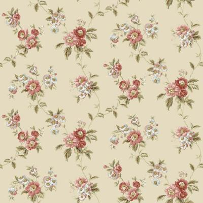 The Wallpaper Company 8 in. x 10 in. Heirloom Mini Yellow/Green Wallpaper Sample-DISCONTINUED