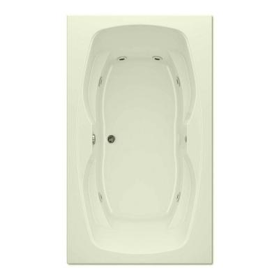 Hialeah II 6 ft. Reversible Drain Acrylic Soaking Tub in Biscuit Product Photo