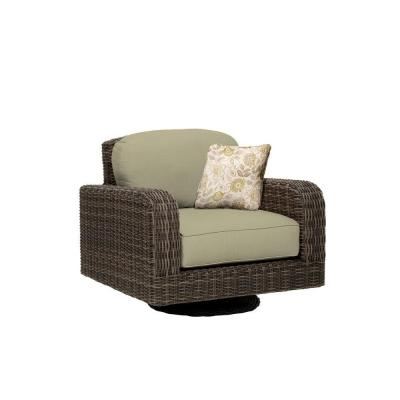 Northshore Patio Motion Lounge Chair in Meadow with Aphrodite Spring Throw