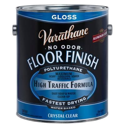 1 gal. Clear Gloss Water-Based Floor Polyurethane (Case of 2)