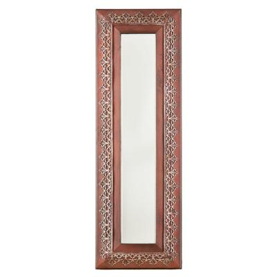null 40 in. x 13.25 in. Clarita Metal Decorative Framed Mirror