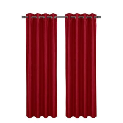 Becca Faux Silk Crimson Room Darkening Grommet Extra Wide Curtain Panel, 54 in. W x 84 in. L Product Photo