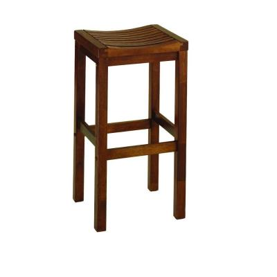 Home styles 29 in oak bar stool 5645 88 the home depot Home depot wood bar stools