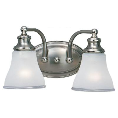 Sea Gull Lighting Alexandria 2-Light Two Tone Nickel Vanity Fixture 40010-773