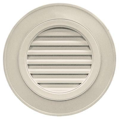 28 in. Round Gable Vent in Champagne (without Keystones) Product Photo
