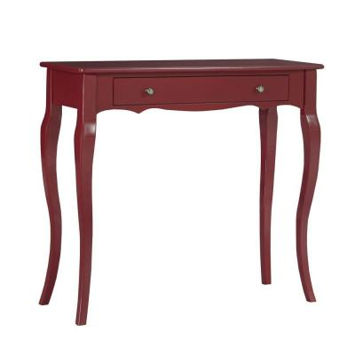 Lisette Scalloped Front Console Table in Sangria Product Photo