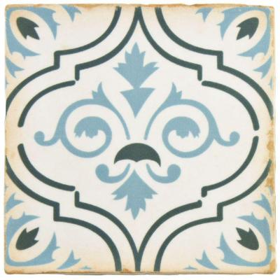 Archivo Fleur De Lis 4-7/8 in. x 4-7/8 in. Ceramic Floor and Wall Tile (5.4 sq. ft. / case) Product Photo