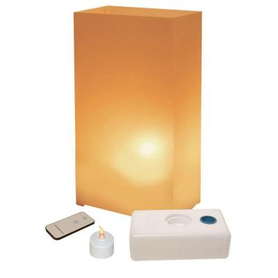 Lumabase LED Tan Luminaria Kit with Remote Control (Pack of 10)