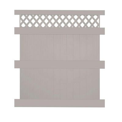 Colfax 8 ft. H x 6 ft. W Tan Vinyl Privacy Fence Panel Product Photo