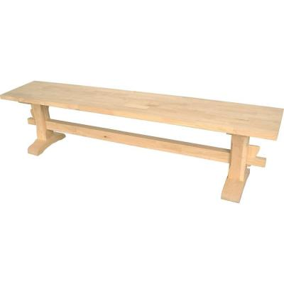 72 in. W Unfinished Trestle Bench Product Photo