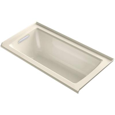 KOHLER Archer 5 ft. Left Drain Bathtub in Almond