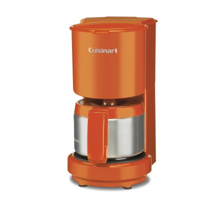 Cuisinart 4-Cup Coffee Maker with Stainless Steel Carafe in Orange