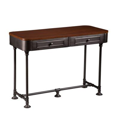Cora Rectangular Dark Tobacco Console Table Product Photo