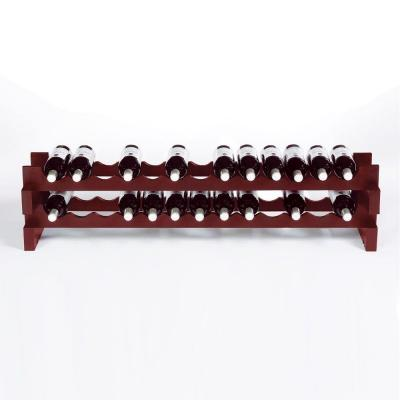 Wine Enthusiast 26-Bottle Stackable Wine Rack Kit in Mahogany
