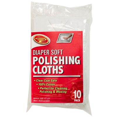 Detailer's Choice Diaper Soft Polishing Cloths 10-Pack-DISCONTINUED