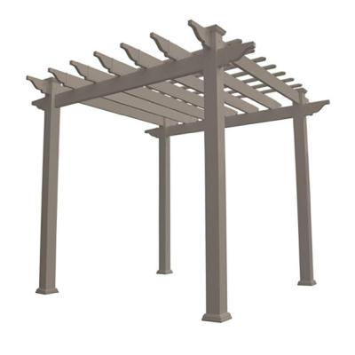 Royal 96 in. x 88 in. Khaki Vinyl Pergola Product Photo
