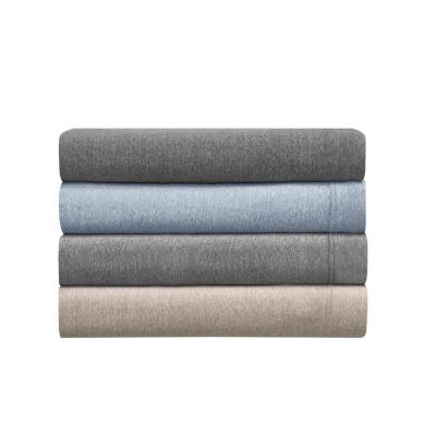 Heather Jersey Knit Solid Cotton Blend Sheet Set