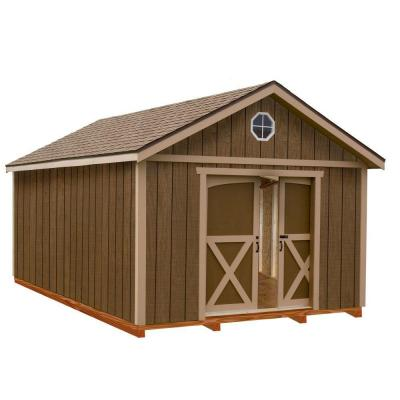 North Dakota 12 ft. x 16 ft. Wood Storage Shed Kit with Floor Including 4 x 4 Runners Product Photo