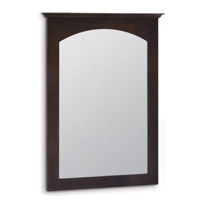 Melborn 31 in. L x 22 in. W Framed Wall Mirror in Java Product Photo