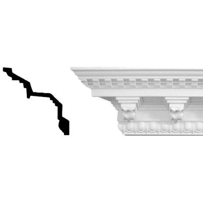 6-1/2 in. x 6-5/8 in. x 94-1/2 in. Egg and Dart With Corbels Polyurethane Crown Moulding Product Photo