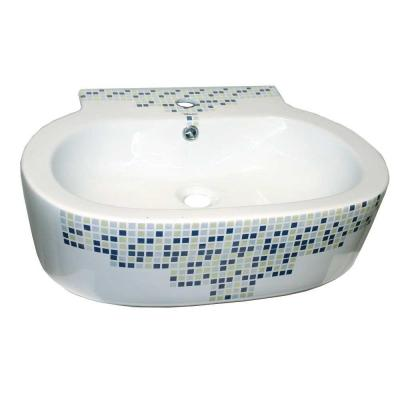 Isabella Decorative Oval Wall-Mounted Bathroom Sink in White