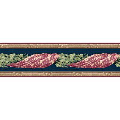 6.83 in. x 15 ft. Navy And Red Jewel Tone Plaid Swag With Ivy Border Product Photo
