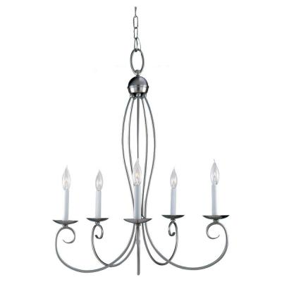 Sea Gull Lighting Pemberton 5-Light Brushed Nickel Single Tier Chandelier 31074-962