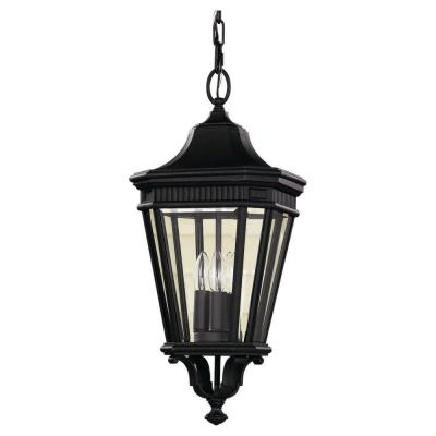 Feiss Cotswold Lane 3-Light Black Outdoor Hanging Pendant