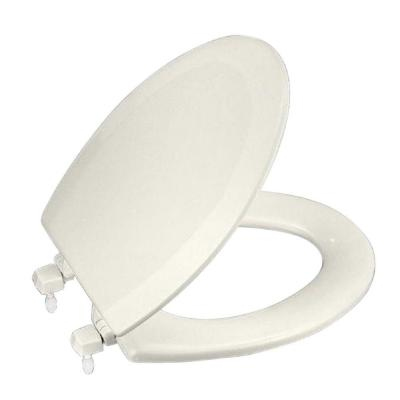 Triko Elongated Closed Front Toilet Seat in Biscuit