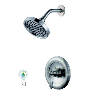 Glacier Bay Estates WaterSense Single-Handle 1-Spray Shower Faucet Only in Brushed Nickel