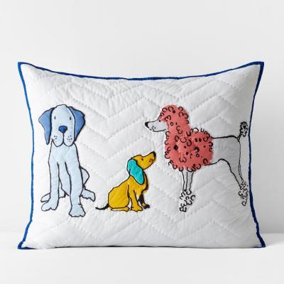 Dog Talk Handcrafted Multicolored Cotton Sham