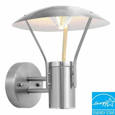 Eglo Roofus Stainless Steel Outdoor Wall-Mount Light Fixture