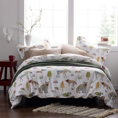 Whimsical Woods Flannel Duvet Cover