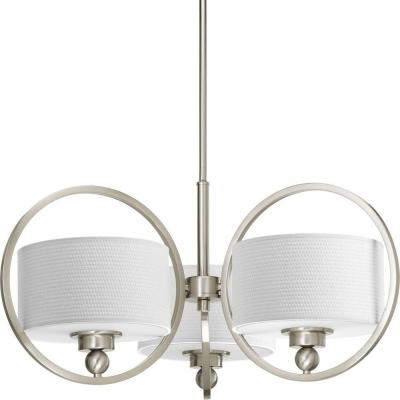 Harmony Collection 3-Light Brushed Nickel Chandelier
