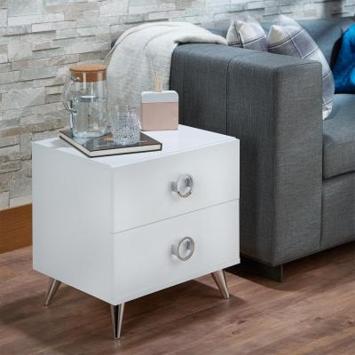 Acme Furniture Elms 2-Drawer White Nightstand