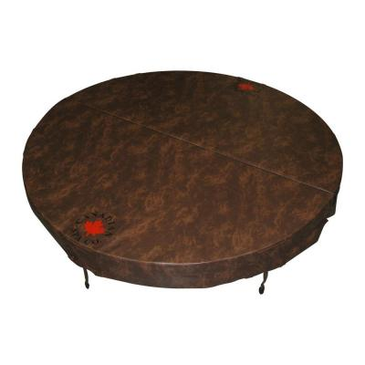 72 in. Round Spa Cover in Brown (5 in. x 3 in. Taper) Product Photo