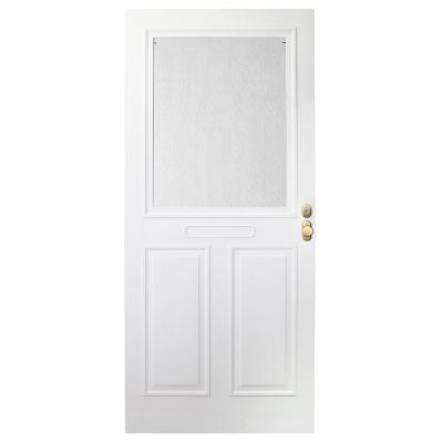 Forever White Store-in-Door Traditional Storm ...  sc 1 st  GoSmith & How much does a storm door and installation cost in Virginia Beach ... pezcame.com