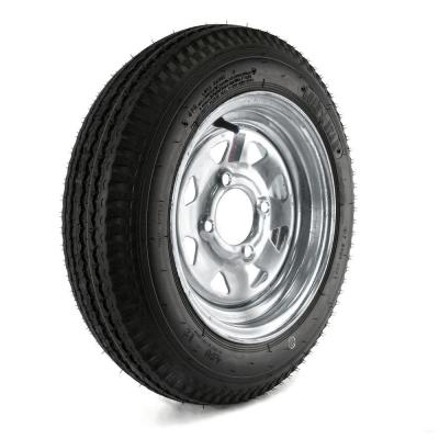 480-12 Load Range B 4-Hole Galvanized Spoke Trailer Tire and Wheel
