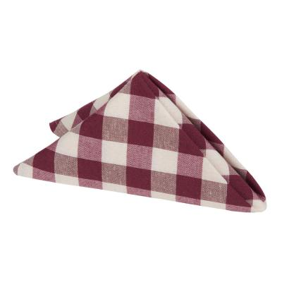 Buffalo Check 17 in. W x 17 in. H CheckePolyester/Cotton Napkins (set of 4)