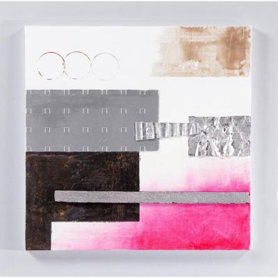 Yosemite Home Decor 24 in. x 24 in. Bubblegum Pink III Hand Painted Contemporary Artwork-DISCONTINUED
