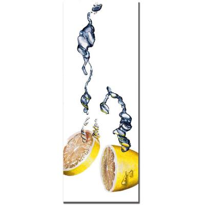 12 in. x 32 in. Lemon Splash II by Roderick Stevens