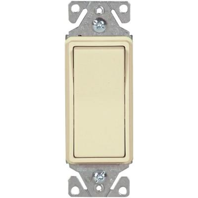 15 Amp 120/277-Volt Heavy-Duty Grade Single-Pole Decorator Lighted Switch with