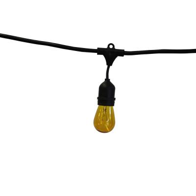 Vintage Metro 48 ft. 24-Light String Light with Amber Bulbs