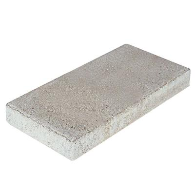 null 2 in. x 8 in. x 16 in. Grey Concrete Step Stone