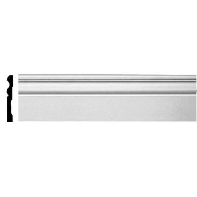 1/2 in. x 4-3/4 in. x 96 in. Polyurethane Bradford Baseboard Moulding Product Photo